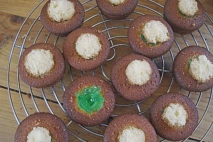Zitronen - Cupcakes mit Waldmeister - Frischkäse - Creme 70