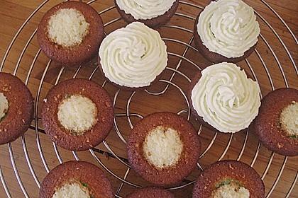 Zitronen - Cupcakes mit Waldmeister - Frischkäse - Creme 71