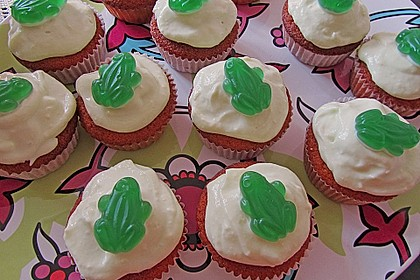 Zitronen - Cupcakes mit Waldmeister - Frischkäse - Creme 47