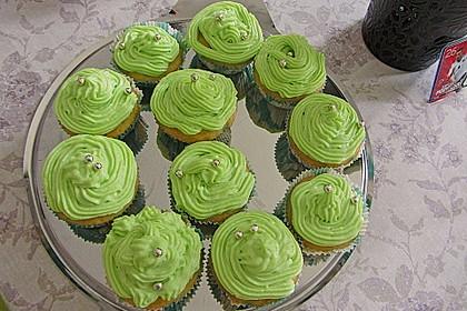 Zitronen - Cupcakes mit Waldmeister - Frischkäse - Creme 40