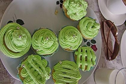 Zitronen - Cupcakes mit Waldmeister - Frischkäse - Creme 44