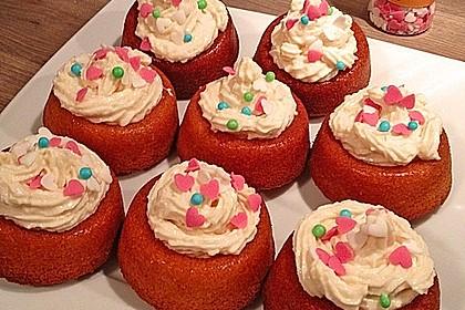 Zitronen - Cupcakes mit Waldmeister - Frischkäse - Creme 64