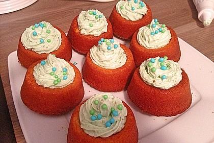 Zitronen - Cupcakes mit Waldmeister - Frischkäse - Creme 60