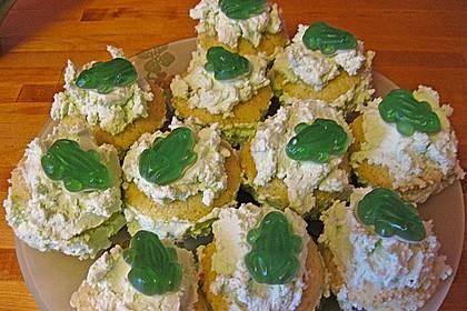 Zitronen - Cupcakes mit Waldmeister - Frischkäse - Creme 77