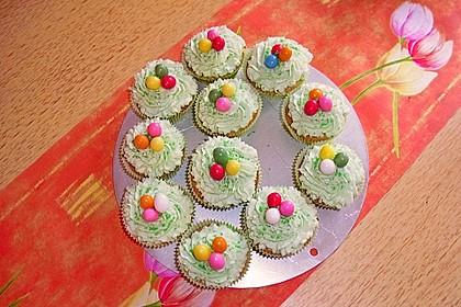 Zitronen - Cupcakes mit Waldmeister - Frischkäse - Creme 15