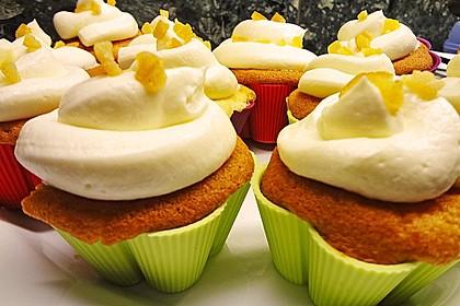 Zitronen - Cupcakes mit Waldmeister - Frischkäse - Creme 32
