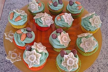 Zitronen - Cupcakes mit Waldmeister - Frischkäse - Creme 28