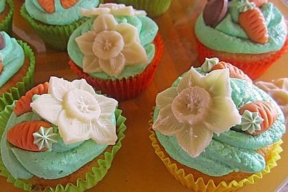 Zitronen - Cupcakes mit Waldmeister - Frischkäse - Creme 12
