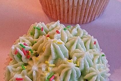 Zitronen - Cupcakes mit Waldmeister - Frischkäse - Creme 22