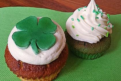 Zitronen - Cupcakes mit Waldmeister - Frischkäse - Creme 23