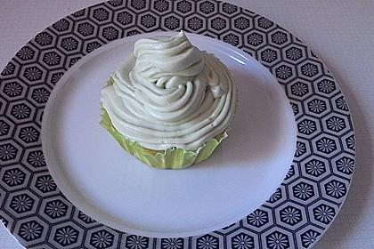 Zitronen - Cupcakes mit Waldmeister - Frischkäse - Creme 43