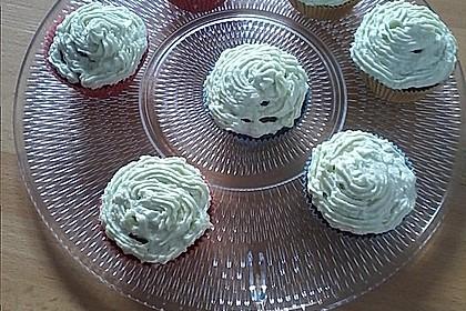 Zitronen - Cupcakes mit Waldmeister - Frischkäse - Creme 57