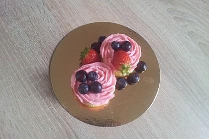 Zitronen - Cupcakes mit Waldmeister - Frischkäse - Creme 56