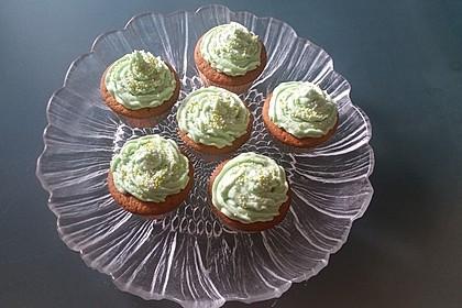 Zitronen - Cupcakes mit Waldmeister - Frischkäse - Creme 26