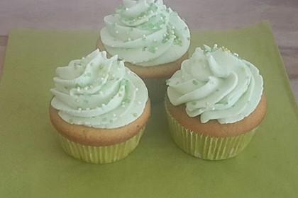 Zitronen - Cupcakes mit Waldmeister - Frischkäse - Creme 6