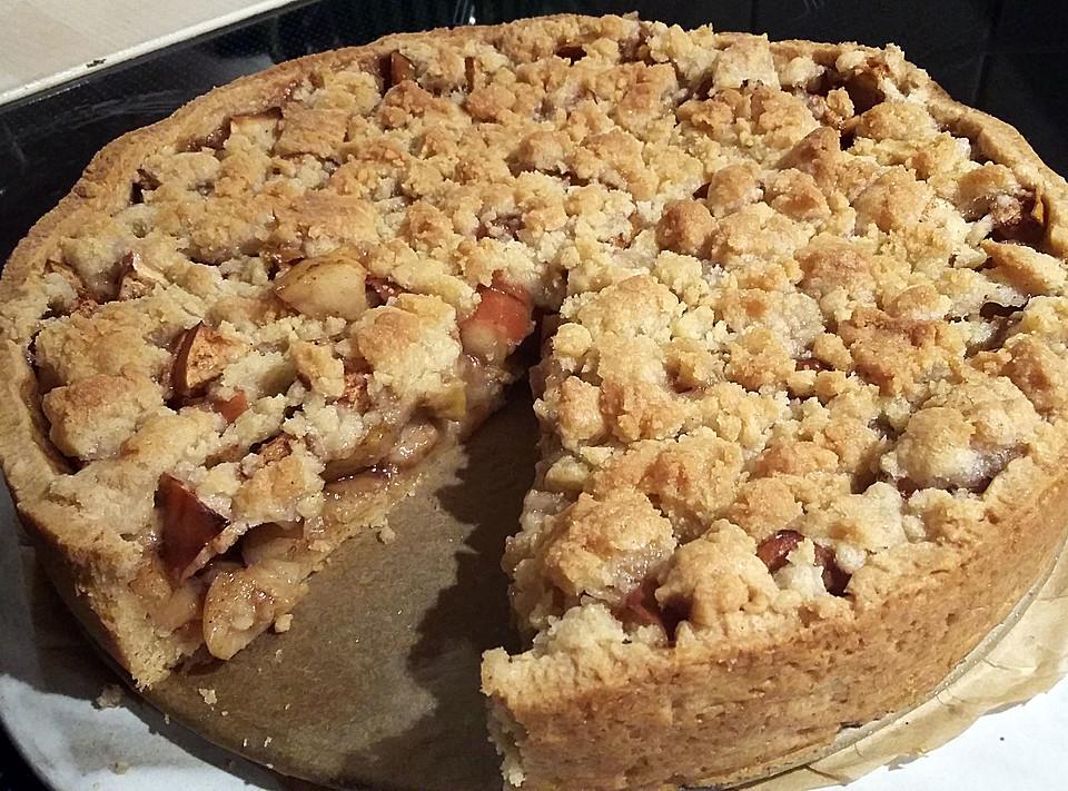 Apfelkuchen Mit Streuseln Ohne Ei Von Moggelle Chefkoch De