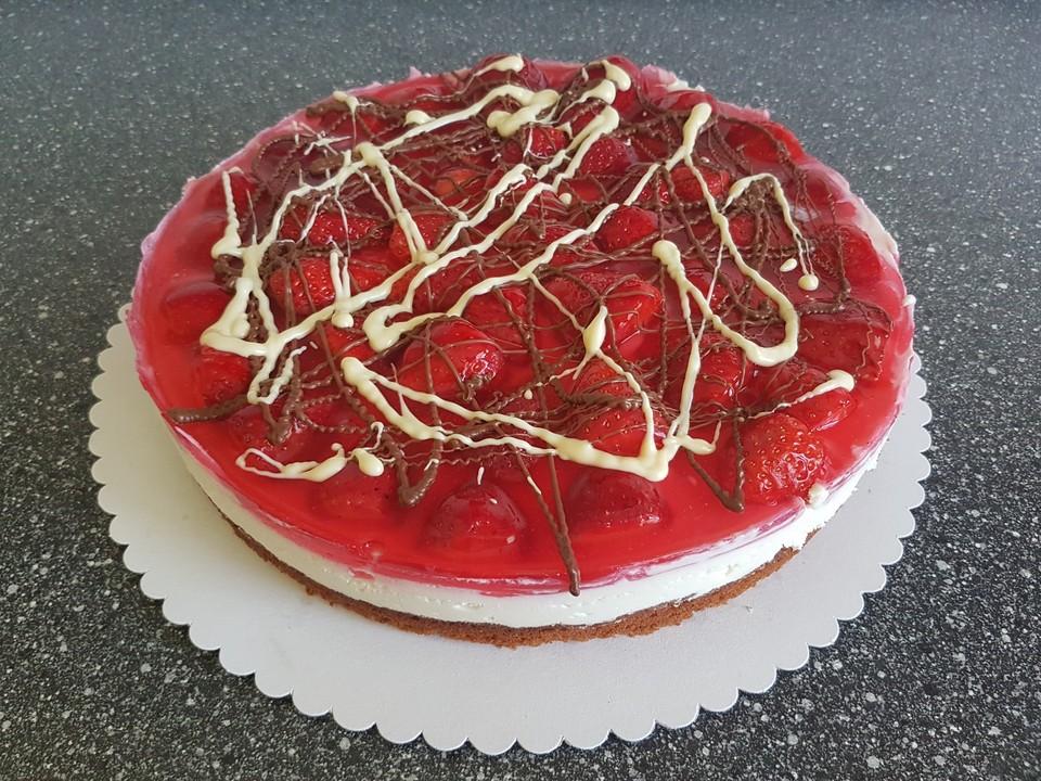 Erdbeer Holundercreme Torte Von Rocky73 Chefkoch De