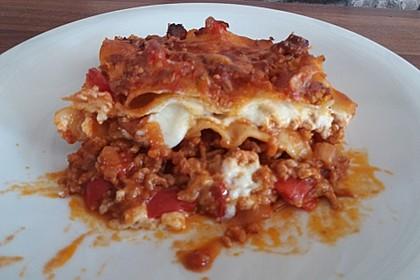 Lasagne mit fruchtiger Paprika - Hackfleisch - Soße 23