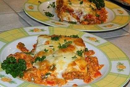 Lasagne mit fruchtiger Paprika - Hackfleisch - Soße 2