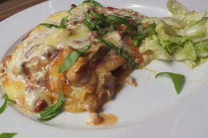 Lasagne mit fruchtiger Paprika - Hackfleisch - Soße 6
