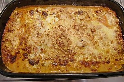 Lasagne mit fruchtiger Paprika - Hackfleisch - Soße 15