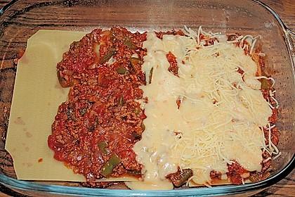 Lasagne mit fruchtiger Paprika - Hackfleisch - Soße 14