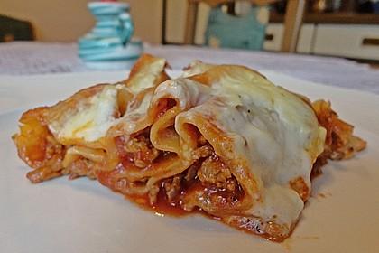 Lasagne mit fruchtiger Paprika - Hackfleisch - Soße 8