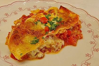 Lasagne mit fruchtiger Paprika - Hackfleisch - Soße 1
