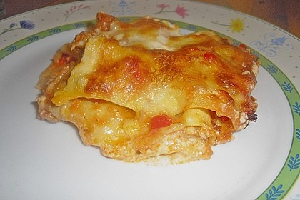Lasagne mit fruchtiger Paprika - Hackfleisch - Soße 13