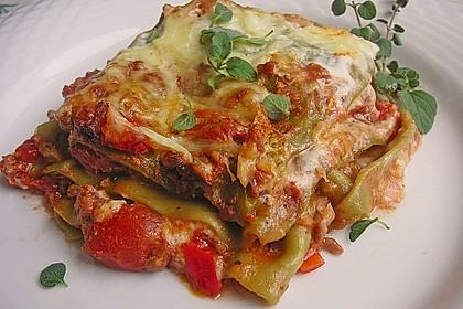 Lasagne mit fruchtiger Paprika - Hackfleisch - Soße