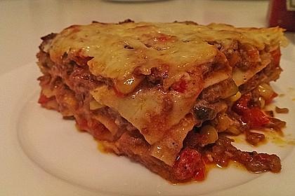 Lasagne mit fruchtiger Paprika - Hackfleisch - Soße 5