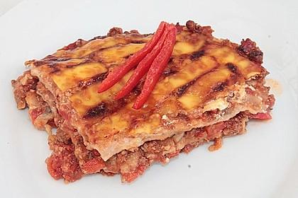 Lasagne mit fruchtiger Paprika - Hackfleisch - Soße 10