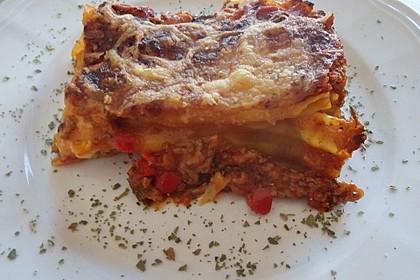 Lasagne mit fruchtiger Paprika - Hackfleisch - Soße 9