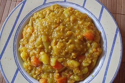 Indischer Linseneintopf mit Möhren und Curry 1