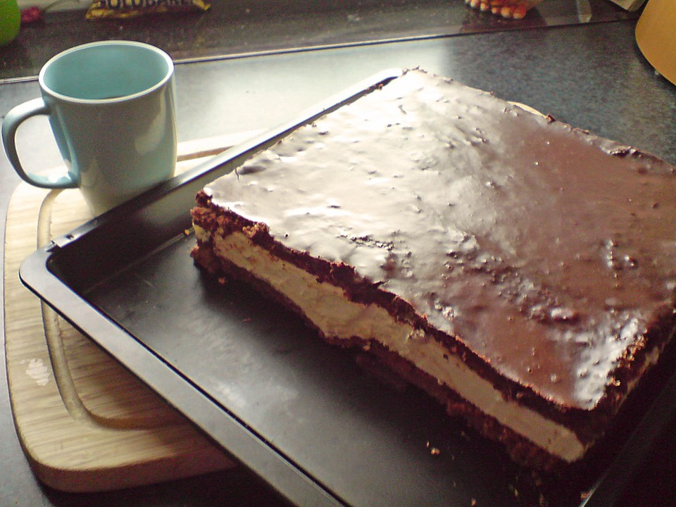 Schokoladen Schmand Joghurt Sahne Kuchen Von Brisane