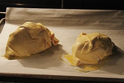 Kasseler in Blätterteig mit Sauerkraut und Ananas 4