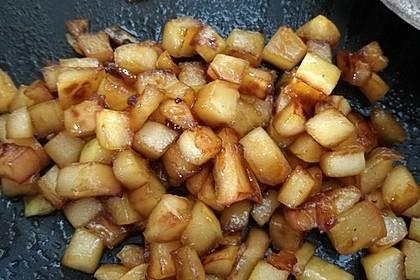 Gebratener Apfel mit Honig 7