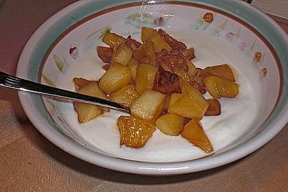 Gebratener Apfel mit Honig 3
