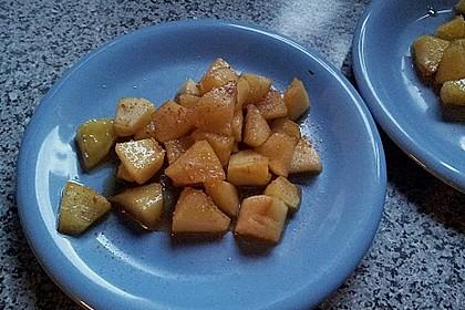 Gebratener Apfel mit Honig 8