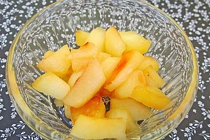 Gebratener Apfel mit Honig 2