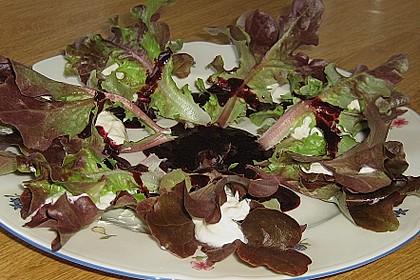 Salatröllchen  mit Heidelbeer - Chilisoße