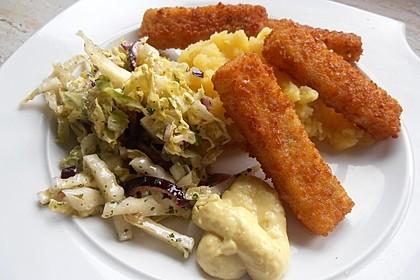 Fischstäbchen auf Kartoffelpüree 2