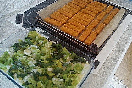 Fischstäbchen auf Kartoffelpüree 9