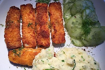 Fischstäbchen auf Kartoffelpüree 5