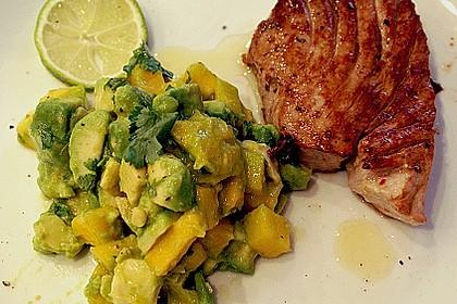Gegrillte Schwertfisch - Steaks mit Avocado - Salsa 1