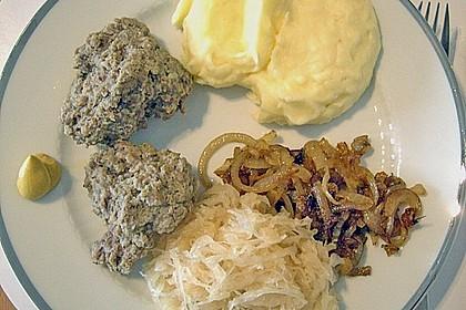 Leberknödel auf Sauerkraut 4