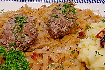 Leberknödel auf Sauerkraut 2