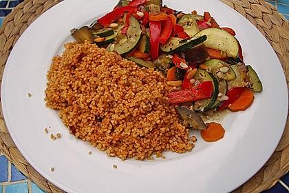 Aromatische Gemüsepfanne mit Couscous 1