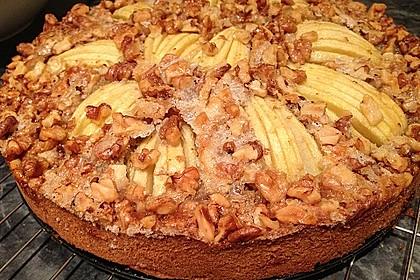 Apfelkuchen mit Walnuss - Kruste 7