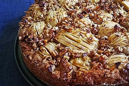 Apfelkuchen mit Walnuss - Kruste 12